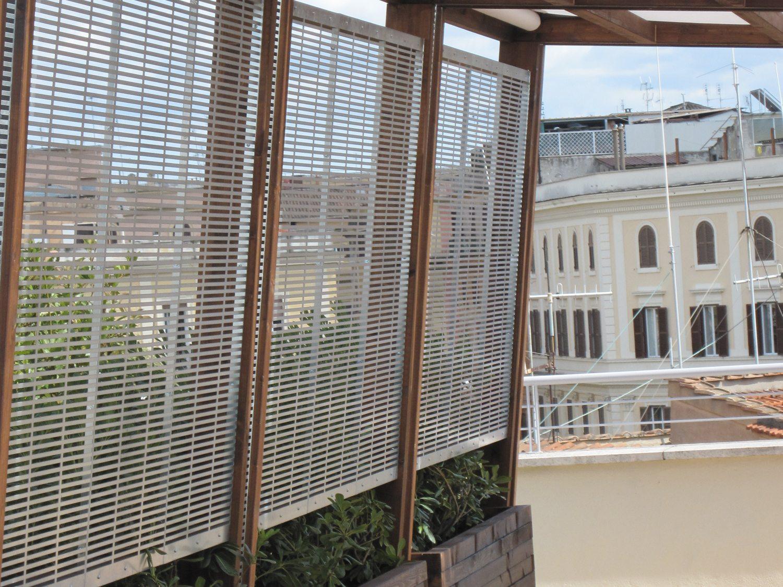 progetto McKinsey & Company roma Pergola con tende ritraibili